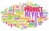 Product Review Word Cloud as a Concept poster