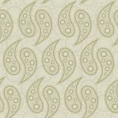 A beige paisley design. Seamlessly repeatable background. poster