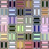 abstract texture of tiles in blocks in pastel colours poster