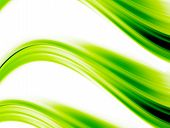 green dynamic waves on white background. abstract illustration poster