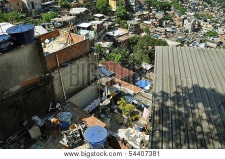 Favela Rocinha. Rio De Janeiro. Brazil.