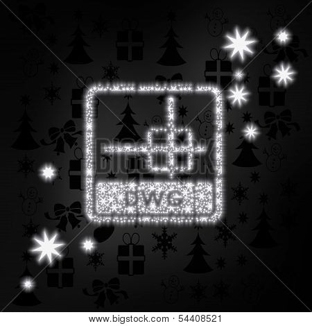 Noble Dwg File Label With Stars