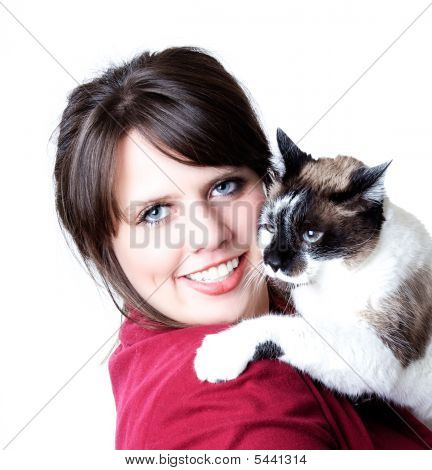 Woman With Cat