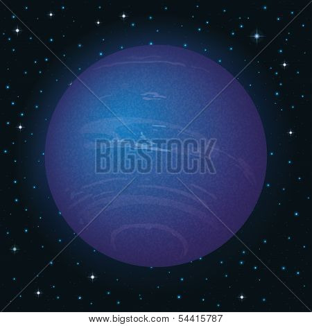 Planet Neptune in space