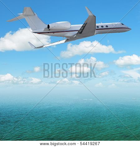 Jet Plane Over The Sea