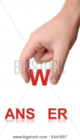 Hand And Word Answer
