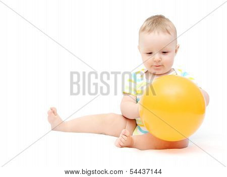 Little Baby With Balloon