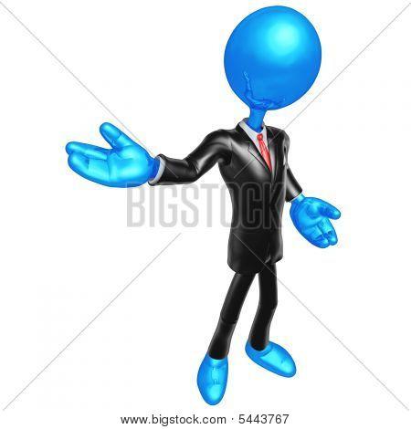 3D Businessman Presenter
