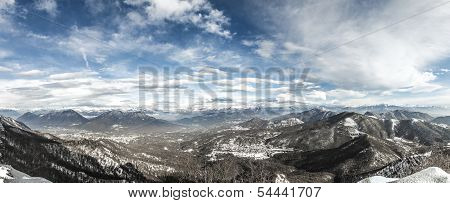 Winter landscape from the Campo dei Fiori Varese - Lombardy Italy poster