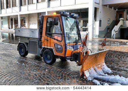Snowblower Removes Snow