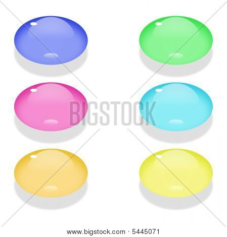 Oval Colored Buttons