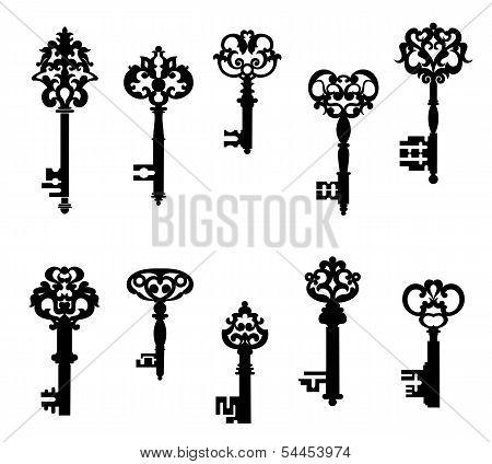 Antique Keys Set