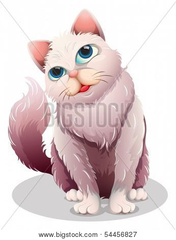 Illustration of a fat cat on a white background