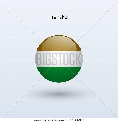 Transkei round flag. Vector illustration.