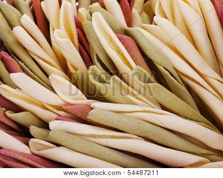 Typical Homemade Calabrian Pasta Of Italy. Pasta Fresca Tradizionale Calabrese, Fatta In Casa - Prod