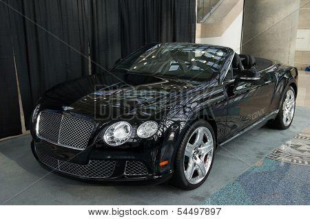 LOS ANGELES, CA - NOVEMBER 20: A Bentley Continental GTC QNX concept car on exhibit at the Los Angeles Auto Show in Los Angeles, CA on November 20, 2013