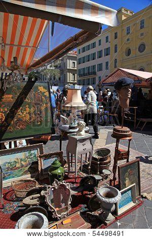 Antique Market In Nice, France