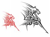Tribal horse mascot for tattoo or another conceptual design poster