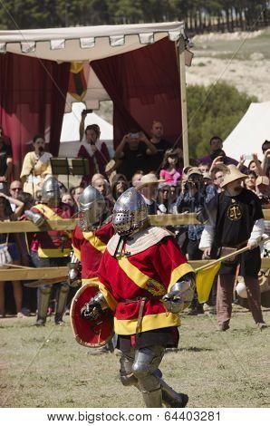 Spanish Team In Movement