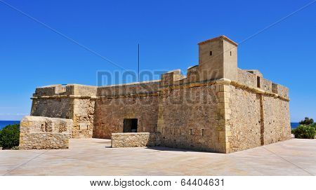 a view of Sant Jordi de Alfama Fortress in Ametlla de Mar, Spain