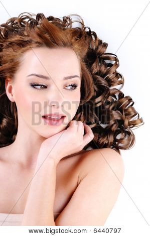 Face Of  Beautiful Young Woman