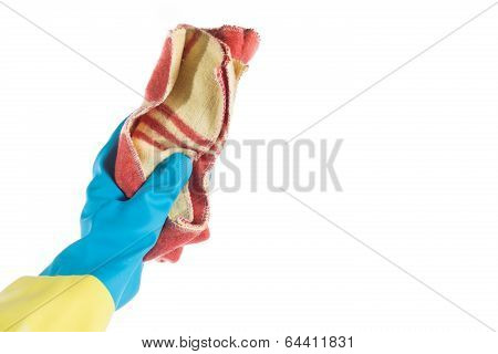 Hand With Rag