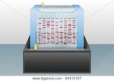 Gel Electrophoresis Device Vector Illustration