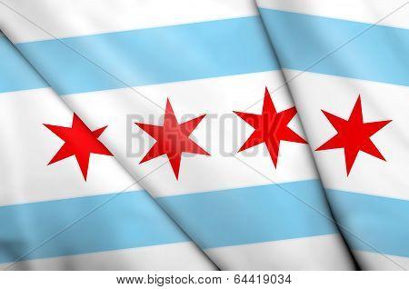 Flag Of Chicago (usa)