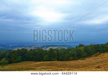 Valley by Danube river