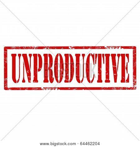 Unproductive-stamp