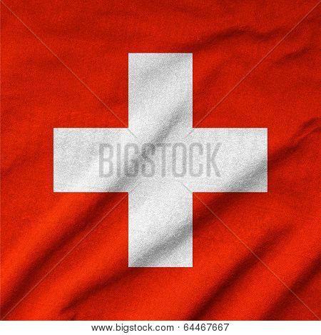 Ruffled Switzerland Flag