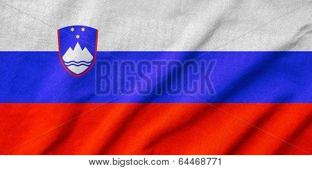 Ruffled Slovenia Flag