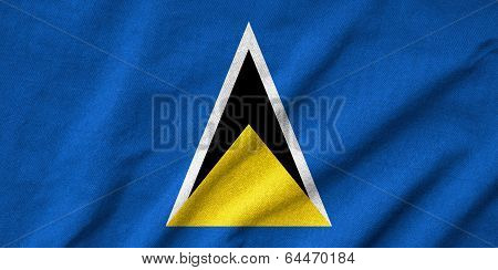 Ruffled Saint Lucia Flag