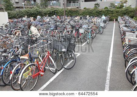 Bicycle Parking In Tokyo