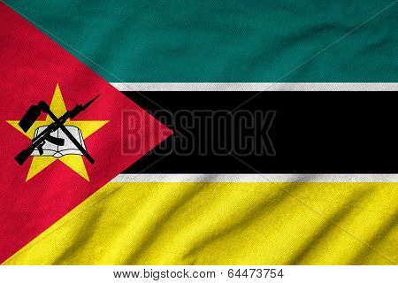 Ruffled Mozambique Flag