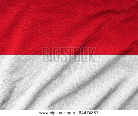Ruffled Monaco Flag