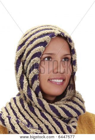 Portrait Of A Woman With A Scarf