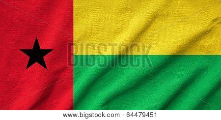 Ruffled Guinea-bissau Flag