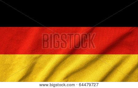 Ruffled Germany Flag