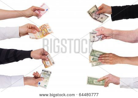 Concept Euro Against Dollar
