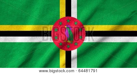 Ruffled Dominica Flag