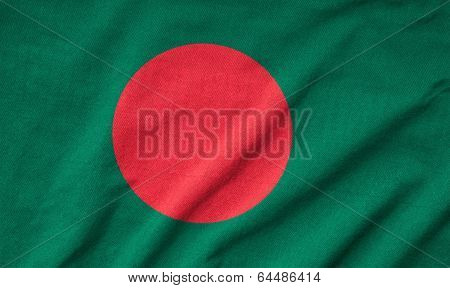 Ruffled Bangladesh Flag