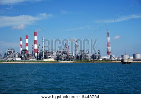 Refinery in Singapore.