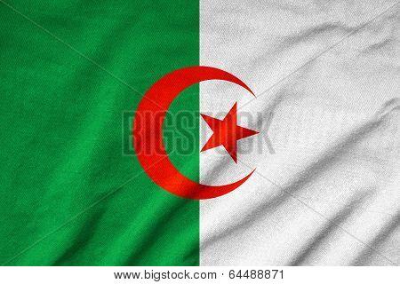 Ruffled Algeria Flag