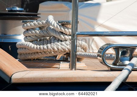 Close Up Of Yacht Rope