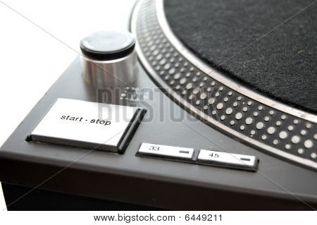 Close Up Of Turntable