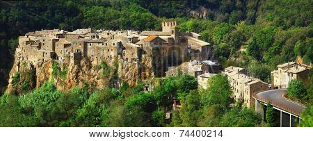 medieval hill top village Calcata, Lazio. Italy
