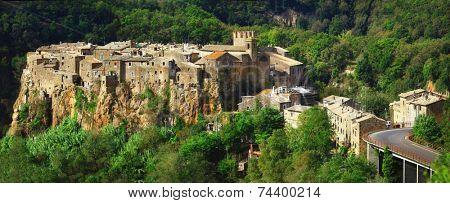 medieval hill top village Calcata, Lazio. Italy