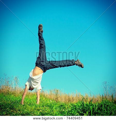 Somersault On The Grass