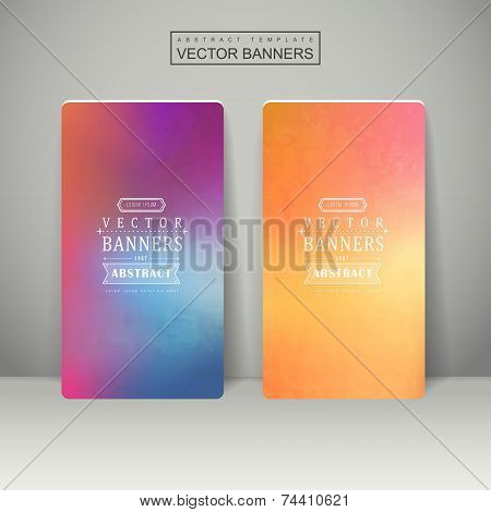 smooth colorful background design for banners set template poster